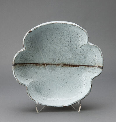 Randy Johnston, 'Four leaf tray, nuka glaze with iron and wax brushwork'