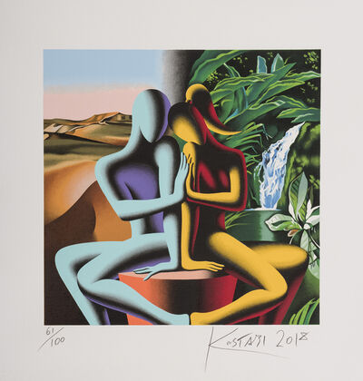 Mark Kostabi, 'Touching Dreams', ca. 2018