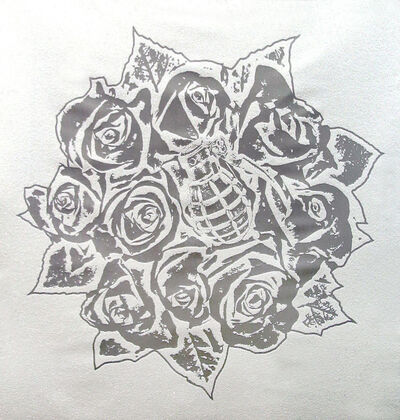 Rubem Robierb, 'Rose Bouquet (Silver on White)', 2016
