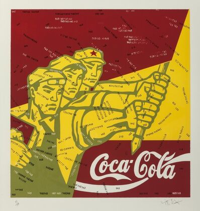 Wang Guangyi 王广义, 'Coca Cola (red) from the Great Criticism series', 2006