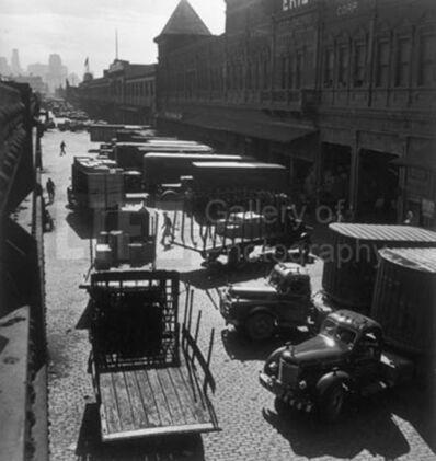 Andreas Feininger, 'Street Entrances to Hudson River Pier Sheds, New York', 1952