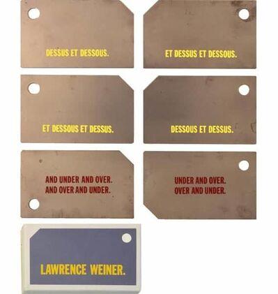 Lawrence Weiner, 'Dessus et Dessous / Dessous et Dessus', 1986