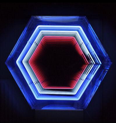 Falcone, 'Infinity Hexagone (Bleu-Blanc-Rouge)', 2018