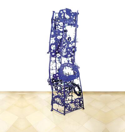 Gunter Damisch, 'Blue Plateholestayertowerconstruct ', 2012