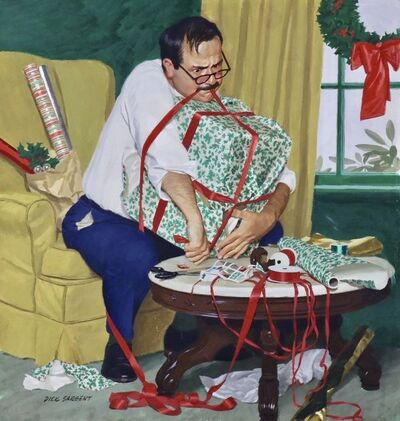 Richard Sargent, 'All Wrapped Up in Christmas, Saturday Evening Post Cover', 1959