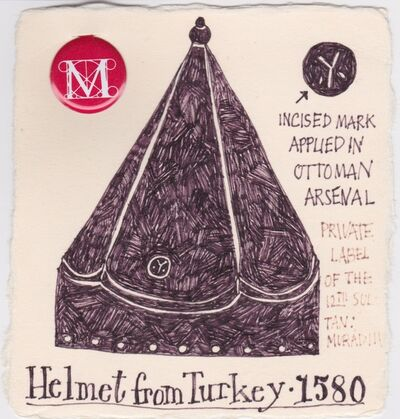 Victoria Behm, 'Helmet from Turkey - 1580', ca. 2011