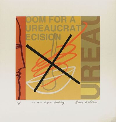 Bruce McLean, 'Room for a Bureaucratic Decision - Another Overegged Pudding', 1994