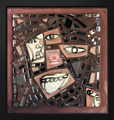 Isaiah Zagar, 'Wheel Portrait ', 2018