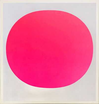 """Rupprecht Geiger, 'Pink on Silver (from """"Colour in the Round"""")', 1969"""