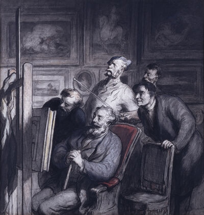 Honoré Daumier, 'The Amateurs', 1865-1868