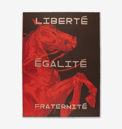 FAITH XLVII, 'Liberté Egalité Fraternité I', 2019