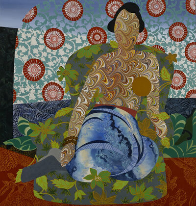 """Dinorá Justice, 'Portrait Sixteen - after Matisse's """"Seated Odalisque Drawing 1925""""', 2018"""