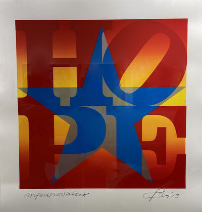 Robert Indiana, 'HOPE Red Blue Silver Rainbow', 2013