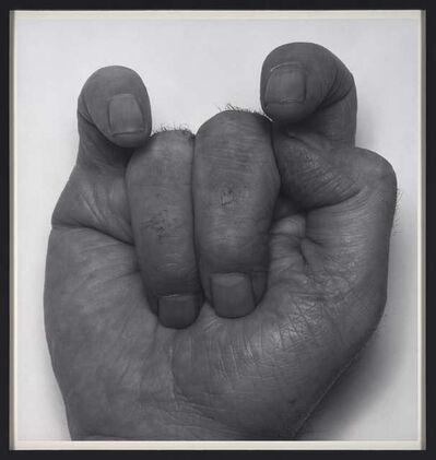 John Coplans, 'Front Hand, VI, Middle Fingers Down', 1988