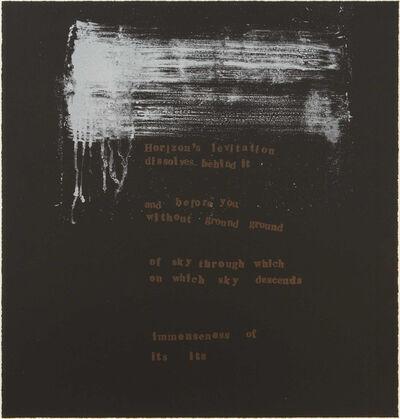 Pat Steir, 'Horizon's Levitation', 2000