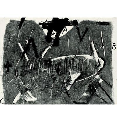 Antoni Tàpies, 'Lietra I Gris', 1976