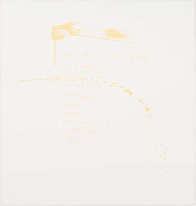 Pat Steir, 'Sky's First Poem', 2000