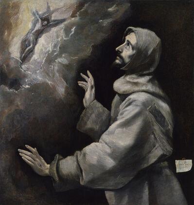 El Greco, 'Saint Francis Receiving the Stigmata', 1585-1590