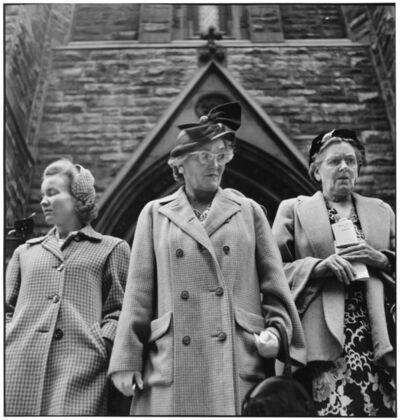 Elliott Erwitt, 'Outside Presbyterian Church on Sixth Avenue. Pittsburgh, Pennsylvania. USA. ', 1950