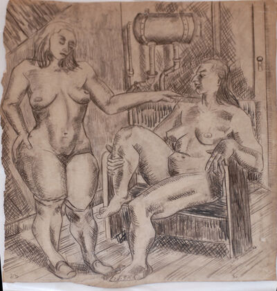 Irene Rice Pereira, 'Two Nudes in an Interior', 1933