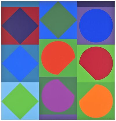 Victor Vasarely, 'Planetarische Folklore (GT 3)', 1964
