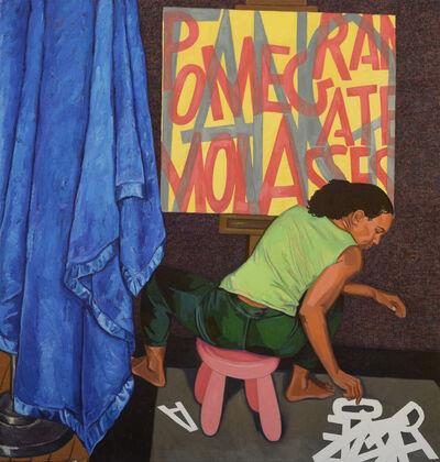 "Mequitta Ahuja, '""Seated Scribe  (Pomegranate Molasses)""', 2018"