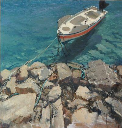 Michael Alford, 'Galateia - coastal seascape boat artwork', 2020