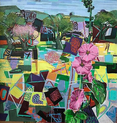David Gerstein, 'Landscape with Hollyhock', 2019