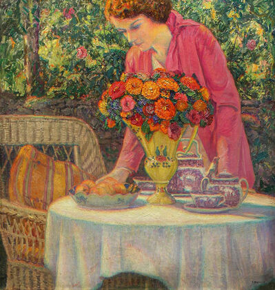 Wilson Irvine, 'The Tea Party with the Artist's Daughter Lois', 1930