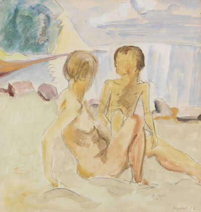 Erich Heckel, 'Frau und Kind am Strand (Woman and Child at the Beach)', 1926