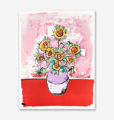 Anthony Lister, 'Marilyn Van Gogh Sun Flowers HPM (Pink Edition)', 2018