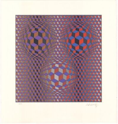 Victor Vasarely, 'Conjuction', 1987