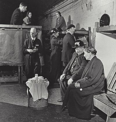 Robert Capa, 'London, England, evening tea in an air raid shelter', 1941