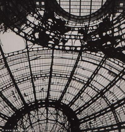 Lee Miller, 'Spider web of steel is the roof of the Festhalle, Frankfurt, Germany', 1945