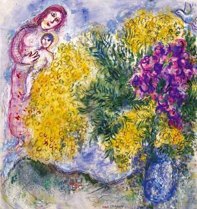 Marc Chagall, 'Mimosas et Iris', ca. 1964-69