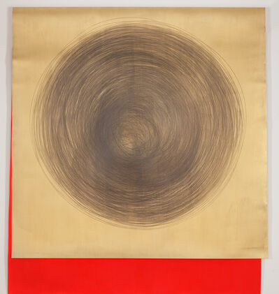 Carali McCall, 'Gold/Neon Red 1hour 47minutes', 2019