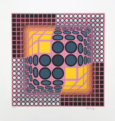 Victor Vasarely, 'PINK COMPOSITION', ca. 1980