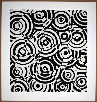 Antonio Asis, 'interferences cercles noir et blanc', 2010