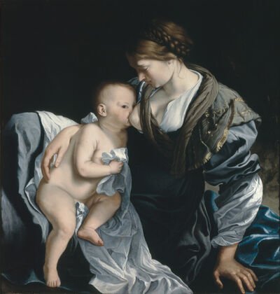 Orazio Gentileschi, 'Madonna and child (from the composition The Rest of the Fligth into Egypt)', ca. 1628