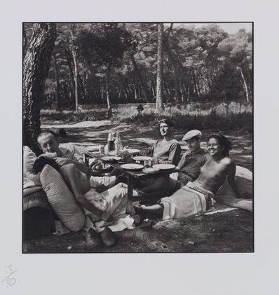 Lee Miller, 'Picnic (Nusch Eluard, Paul Eluard, Roland Penrose, Man Ray, Adrienne 'Ady' Fidelin)', 1937-printed later in 2000