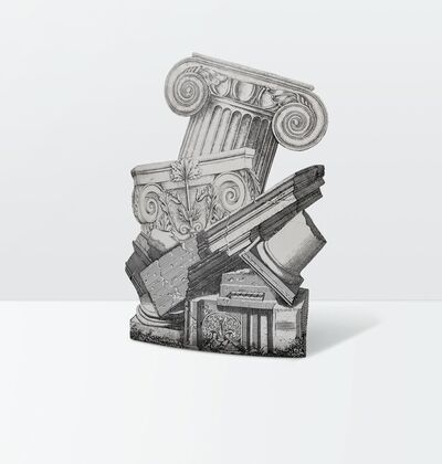Piero Fornasetti, 'an umbrella stand in silkscreen-printed metal', ca. 1990