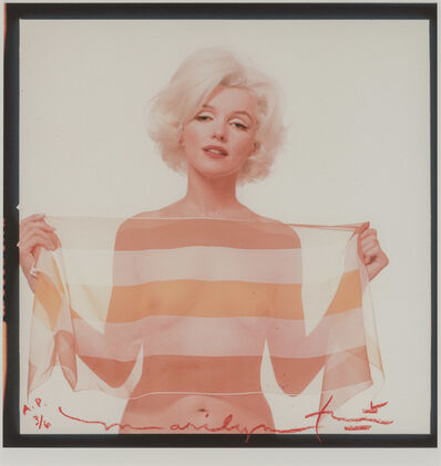 Bert Stern, 'Marilyn Monroe with a striped scarf, from The Last Sitting for Vogue', 1962