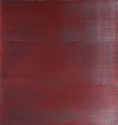 Rolf Rose, 'Struktur in Dunkelrot', 1992