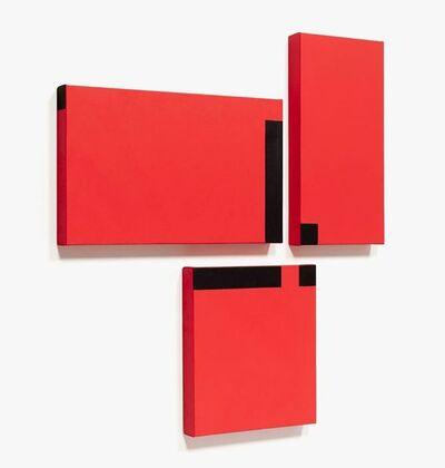 César Paternosto, 'Red Trio #7', 2015