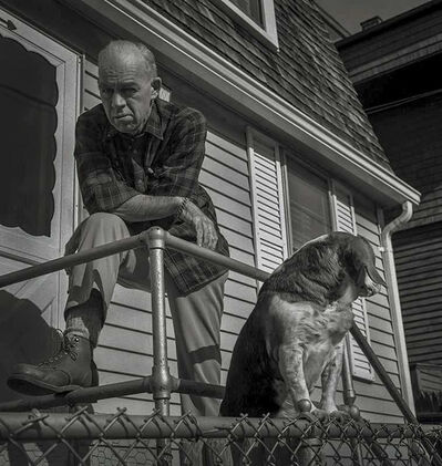 Salvatore Lopes, 'Man and Dog - Newport - US'