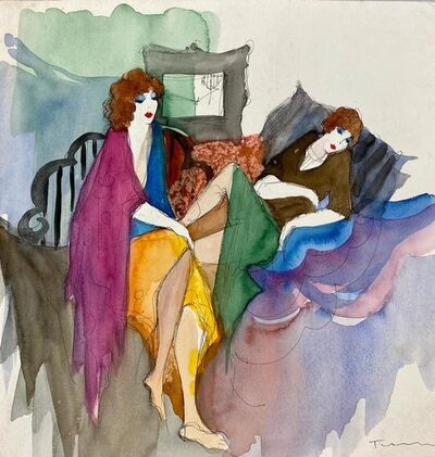 Itzchak Tarkay, 'women', 80's of the 20th century