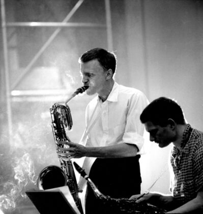 Herman Leonard, 'Gerry Mulligan and Zoot Sims, NYC', 1955