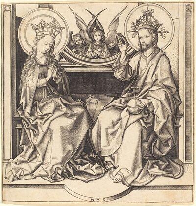 Martin Schongauer, 'Christ Blessing the Virgin', ca. 1480/1490