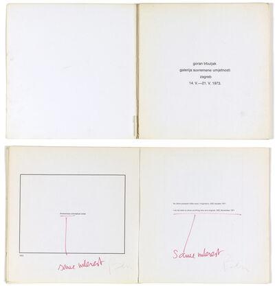 Goran Trbuljak, 'Ben signe tout, moi anonyme je signe Ben', 1973/1991