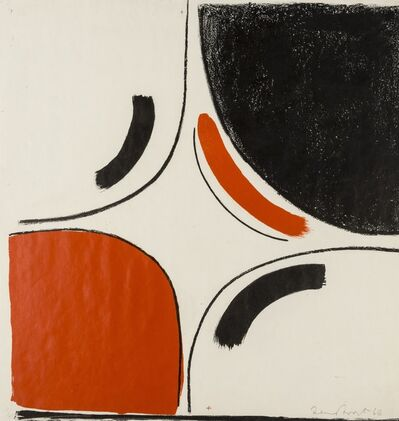 Sir Terry Frost, 'Untitled (Red and Black in Square) (Kemp 36)', 1966